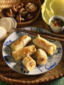 Vietnamese stuffed cabbage leaves with vegetable filling