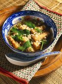 Vietnamese spinach soup with tofu