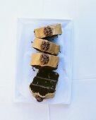 Mocha cake with walnuts