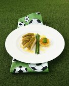 Chicken breast in herb crust with Bernese rösti