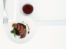 Pigeon breast braised in exotic spiced stock