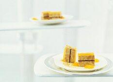 Foie gras with dark chocolate and jellied melon nectar