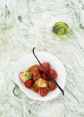 Strawberries with vanilla olive oil