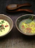 Potato and eel soup (clear and thickened)