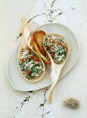 Fish rillette with toast