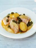 Grenoble-style snapper (with capers, lemons and boiled potatoes)