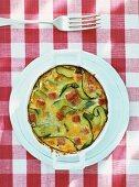 Courgette and ham au gratin