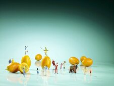 Carnival: Kumquats with miniature figures