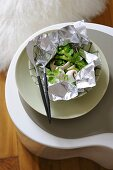 Sole with vegetables in aluminium foil (detox diet)