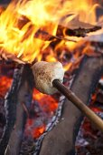 Stockbrot über Lagerfeuer