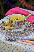 Turnip soup with stilton croutons (bonfire night, England)