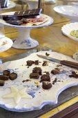 Chocolate specialites for sampling at Cocomaya, London