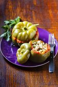 Gundel style pepper (pepper stuffed with rice, Hungary)