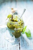 Pesto in a jar