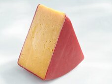 A piece of red cheddar