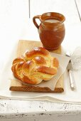 Kolach (bread plait filled with cheese, Poland)