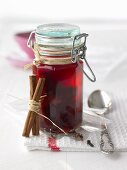 Cherries in brandy to give as a gift