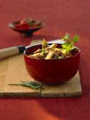 Aubergine with mince