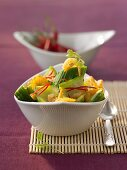 Dried prawns with cucumber and chilli