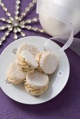 Cream-filled sandwich cookies for Christmas