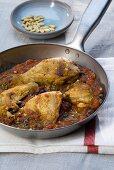 Pollo alla rivierasca (Chicken with tomatoes & olives)