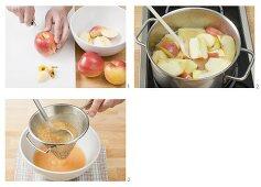 Making apple puree