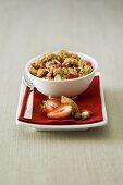 Strawberry and nut muesli