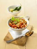 Indian chick-pea stew