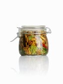 Sweet and sour pickled forest mushrooms (Sweden)