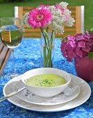 Artichoke and watercress soup