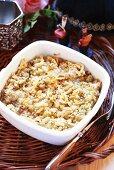 Noodle dish with matzo pieces (Jewish cuisine)