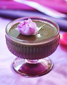 Chocolate sauce with rose