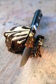 Block of marbled chocolate
