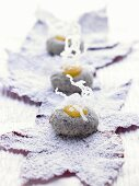 Poppy seed biscuits with lemon curd