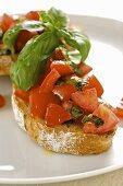 Bruschetta (Tomatoes on toast, Italy)