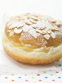 Doughnut with flaked almonds