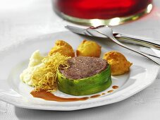 Beef fillet with red wine butter