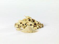 Cardamom pods and ground cardamom