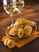 Cheese madeleines with cumin seeds