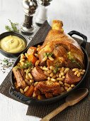 Cassoulet with knuckle of pork and sausages