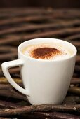 Cappuccino dusted with cocoa powder
