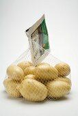 Potatoes in a net bag