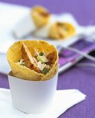 Wrap with chicken & rice filling (made from store-bought products)