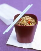Soba noodles with chilli and peppers