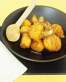 Caramelised sweet potatoes