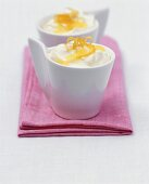 Low-fat lemon creams