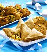 Assorted Indian snacks