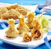 Assorted Oriental snacks