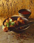 Moo Tod (Deep-fried pork balls, Thailand)