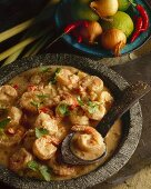 Gung Penang (prawns in a coconut curry sauce, Thailand)